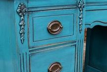 Desks & Vanities / Desks & Vanities Collection ~ painted, glazed, and distressed by Facelift Furniture. Used in bedrooms, kitchens, home offices, and living areas. Also on our website http://www.faceliftfurniture.com/gallery/desks-vanities/