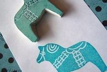 ✄ DIY Paper & Stamp Projects / paper projects, linocuts, and stuff like that / by Katie Bush
