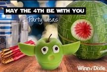 May the Fourth Be With You Star Wars Birthday Party / Celebrate #StarWars Day like a Jedi with our #MaytheFourthBeWithYou Birthday Party Ideas board.  / by Winn-Dixie