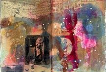 Art Journals / Never underestimate the idea and methods that build you up to that wonderful masterpiece!  / by Liza Bain