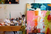 Art Workspace / Every Artist Knows That To Make Art You Need A  Workspace. / by Liza Bain