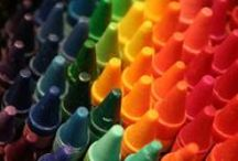 Cray◘ns / Happiness is a box of Crayons.  Happiness is the smell of a box of Crayons.  One is never too old for crayons and coloring books.  Oh look at all the pretty colors..... / by Shirley Aston-Andre Golden