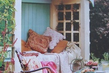 outdoors / Along with the shed made of recycled materials, I'm thinking about outdoor rooms and spaces. I'm using Christopher Alexander's A PATTERN LANGUAGE as a guide. I may start a board dedicated to that book, but right now I'm content to collect ideas for outside, at home.