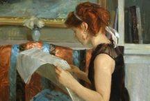 Women readers on the art history / Mujeres lectoras en el arte