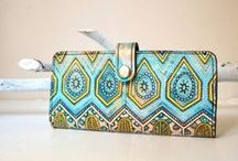 BarbaLeatherStudio / HandPainted Wallets/Pouches etc / www.BarbaLeatherStudio.etsy.com