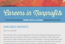 Careers in Nonprofits / This board consists of nonprofit careers and businesses that strongly support philanthropies.
