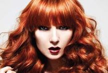 Red Collection / Balmain Hair Extension Photoshoot with Red Hair