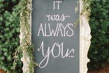 Wedding Signs / Signs for everything is the way to go!