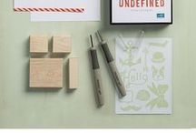 Stampin' Up - Undefined / Stamps created with the Stampin' Up! Undefined carving Kit - Create your OWN stamps!