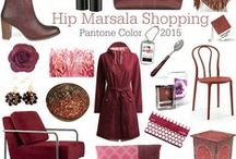 Hippe Shops ♥ Marsala Color Shopping / Love Marsala? Here's the dark red colored stuff you can buy online at the webstores of www.hippeshops.nl  Marsala: Pantone Color of the year 2015