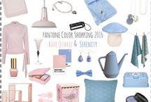 Pantone 2016 trend colors Rose Quartz & Serinity / TRENDREPORT – 'Rose Quartz' en 'Serenity' zijn uitgeroepen tot Pantone trendkleuren van het jaar 2016.