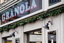 Restaurants, cafés, shops and retail spaces