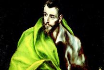 EL GRECO (Old Master) / El Greco, Doménikos Theotokópoulos was born around 1541 in Crete, then part of the Republic of Venice. He traveled to Venice and studied under Titian, who was the most renowned painter of his day. Around age 35, he moved to Toledo, Spain, where he lived and worked for the rest of his life, producing his best-known paintings. His works from this period are seen as precursors of both Expressionism and Cubism. He is remembered chiefly for his elongated, tortured figures, often religious in nature. / by Tomás Ribas I