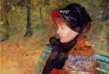 Mary Cassatt / Born on May 22, 1844, in Allegheny City, Pennsylvania, Mary Cassatt was one of the leading artists in the Impressionist movement of the later part of the 1800s. Moving to Paris, her home for the rest of her life, she was befriended by Edgar Degas. After 1910, her increasingly poor eyesight virtually put an end to her serious painting, and she died in 1926. / by Tomás Ribas