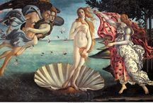 BOTTICELLI (Old Master) / Alessandro di Mariano di Vanni Filipepi, better known as Sandro Botticelli  was born in the mid-1440s in Florence, Italy. As a boy, he apprenticed as a goldsmith and then with master painter Filippo Lippi. By his forties, Botticelli was himself a master and contributed to the decoration the Sistine Chapel. His best known work is The Birth of Venus. He died in 1510. / by Tomás Ribas I