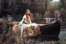 """John William Waterhouse / John William Waterhouse was an English painter known for working in the Pre-Raphaelite style. He worked several decades after the breakup of the Pre-Raphaelite Brotherhood, which had seen its heyday in the mid-nineteenth century, leading him to have gained the moniker of """"the modern Pre-Raphaelite"""". Borrowing stylistic influences from the earlier Pre-Raphaelites, his artworks were known for their depictions of women from both ancient Greek mythology and Arthurian legend. / by Tomás Ribas"""