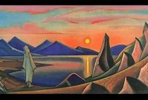 Nicholas Roerich / Born in Saint Petersburg, Russia, he lived around the world until his death in Punjab, India. Trained as an artist and a lawyer, his interests lay in literature, philosophy, archaeology and especially art. Roerich was a dedicated activist for the cause of preserving art and architecture in times of war. He earned several nominations for the Nobel Prize. The so-called Roerich Pact was signed into law by the United States and most member nations of the Pan-American Union in April 1935. / by Tomás Ribas