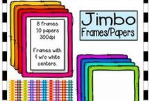 KB Konnected Frames and Borders / A huge variety of digital frames and borders. Here you can find plenty of fun and funky frame collections. Many colored and black and white versions are available. Doodle frames galore!  Check out some of my bundles for extra $avings. Perfect for creating attractive products and covers as many include coordinating frames in a variety of shapes (circles, squares, & rectangles). / by KB Konnected