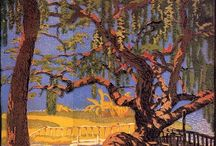 Gustave Baumann / Gustave Baumann (June 27, 1881 – October 1971). Born in Magdeburg, Germany, at the age of 10, he moved to the United States with his family; he was a printmaker and painter, and one of the leading figures of the color woodcut revival in America. His works have been shown at the New York Metropolitan Museum of Art, the National Gallery of Art in Washington DC, and the New Mexico Museum of Art. / by Tomás Ribas