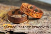 Leather Crafts / Leather working tips, tricks, tools, DIY and ideas.