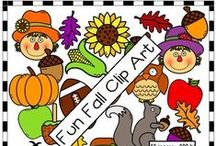 Fabulous Fall Clip Art / Fun, fall clip art by TpT artists.