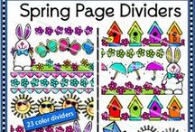 Spectacular Spring Clip Art / Great spring clip art for your products by TpT artists.