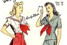 Design Styles: 1940's shirts and skirts