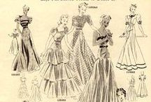 Design Styles: 1940's evening gowns