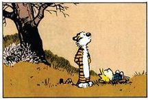 """Bill Watterson / William """"Bill"""" Boyd Watterson II (born July 5, 1958) is an American cartoonist and the author of the comic strip Calvin and Hobbes, which was syndicated from 1985 to 1995. Watterson stopped drawing Calvin and Hobbes at the end of 1995 with a short statement to newspaper editors and his readers that he felt he had achieved all he could in the medium. Watterson is known for his views on licensing and comic syndication, as well as for his reclusive nature. / by Mulberry Sang"""
