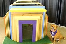 "Home for the Holidays / When you purchase a chance to win one of the 13 custom 2012 ""Home for the Holidays"" Luxury Dog Houses for your best friend, you'll help thousands of deserving animals find their own loving homes. See the cleverly designed dog houses, donated by local remodeling contractors, at NorthPark Center November 9-25, and purchase raffle tickets at NorthPark or right here. All tickets will be included in the drawing, to be held November 26, 2012."