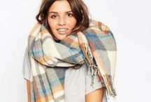 {oversized scarves for fall} / Blanket Scarves; Plaid Scarves; Fall Scarves