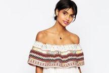 {off-the-shoulder trends} / off-the-shoulder tops, off-the-shoulder dresses, cold-shoulder
