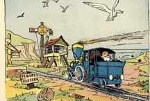 E Jeffrey / Edward Jeffrey pictured the children's comic character Toby Twirl. The stories were by Sheila Hodgetts and colouring was by R.S.Clark.