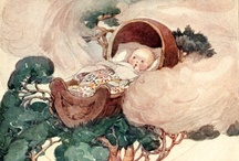 Anne Anderson / Anne Anderson (1874—1930) was a prolific Scottish illustrator, primarily known for her art nouveau children's book illustrations, although she also painted, etched and designed greeting cards. Her style of painting was influenced by her contemporaries, Charles Robinson, Mabel Lucie Attwell and Jessie Marion King and was similar to that of her husband, Alan Wright.