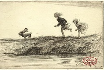 Eileen Alice Soper / EILEEN ALICE SOPER  RMS, SWLA 1905 - 1990  ETCHING SIGNED IN PENCIL BY THE ARTIST  Celebrated illustrator and etcher The daughter of artist George Soper she was known for her drawings of wildlife and her skill at capturing the liveliness and spontaneity of children.