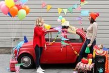 celebrate / fun party ideas - bright and bold! endless possibilities