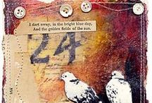 Mixed Media / ATC's, tags, art with mixed media--  especially Tim Holtz style & Steampunk / by Kelly Kravitz