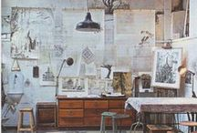 art studio ideas / by Abby Shaw