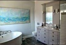 My ocean-inspired master bathroom reno / by Kelly James