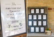 Awesome Seating Charts / We love seating charts! We think that seating charts are such a fun way to add to the theme, colour scheme and tone of your wedding celebration. We specialize in custom seating chart solutions. Check out some of our favourite seating charts here!  Contact us today so we can help you with your wedding planning! www.eventsbywhim.ca