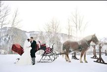 Wonderful Winter Wedding / We love winter weddings! Who says Summer should have the monopoly on beautiful nuptial celebrations?  To see how we can help you plan your dream wedding, contact us today: www.eventsbywhim.ca