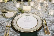 Table Top Decor & Place Settings / A well laid table can do a lot to enhance your decor. Here are some great examples of beautiful wedding place settings.   www.eventsbywhim.ca
