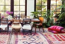 Bohemian / Bohemian style is a boisterous caravan of color. Not for the timid, the boho look is your passport to adventure, featuring vivid colors and rich, dark shades. Deep blue, saturated red, brilliant orange and an earthy neutral create a medley of jewel tones that suggest the mystery, intrigue and glamour of an exotic quest.