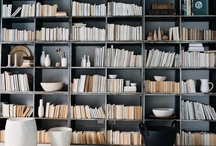 """Book Living / One of my favorite things to gather and collect are books. I love the idea of using books as decor. Arranging them and finding the right combination for any room is a talent and requires an artful touch. I never underestimate the """"random"""" arrangement of books on a shelf. The transformation of a room from lifeless to """"life-full"""" can be achieved with the simple art of """"book-ing"""" a room."""
