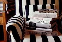 Stripes / I love the effortless versatility of stripes. With their simplistic design, stripes can portray a broad spectrum of colors and themes, looking like they naturally belong in each. They're a staple on the runway and a fashion-forward statement that is always current. Whether graphically interpreted or mixed with primary colors, bold lines rule the road.