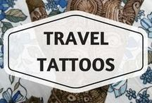 Travel Tattoos / travel tattoos, tattoo ideas, travel inspiration, body art, getting inked, airplane tattoos, small tattoos, rib tattoos, map tattoos, paper plane tattoos, bike tattoos, quote tattoos