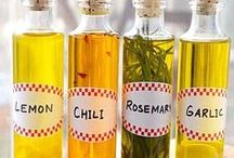 Infused Oils / Infused oils make great bases for salad dressings, marinades, and sauces.
