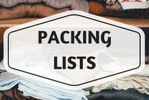 Packing Lists / packing lists, packing ideas, travel tips, what to pack, travel gear, trip essentials, travel advice, backpacking, adventure travel gear, travel safety gear, female packing list, solo travel packing list