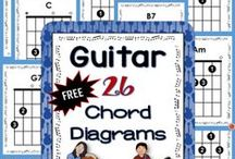 Guitar in the Music Classroom / Guitar for beginners. Quality, ready to use music guitar arrangements (duo and trio) created for the music classroom. | Teaching guitar | Guitar lessons for kids | ♫  Join the Resource Library for FREE music worksheets and ideas: http://goo.gl/l0ZgXD