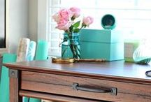 Pretty and Practical / Soothing and stress-free. Soft colors, feminine florals, vintage character and flea market finds define this charming style.  / by Sauder Furniture